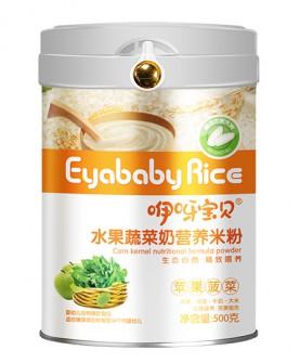 500克水果蔬菜粉营养米粉(苹果菠菜)