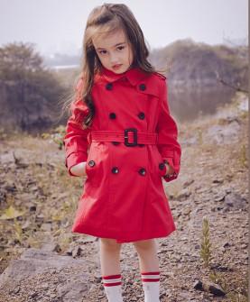 女童风衣外套2017新款