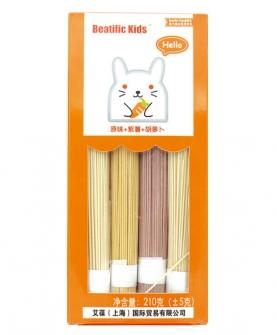 Beatific Kids原味+紫薯+胡萝卜面