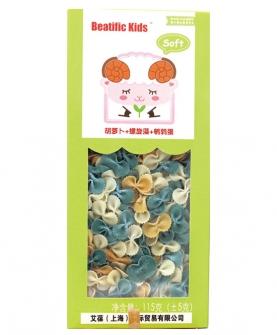 Beatific Kids胡萝卜+螺旋藻+鹌鹑蛋蝴蝶面