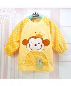 宝宝防水罩衣-可爱猴图案
