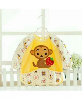 宝宝防水罩衣-黄色花纹款