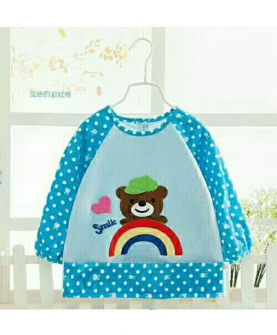 宝宝防水罩衣-小熊图案