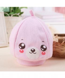 笑脸胎帽-粉红色
