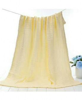 六层纱布泡泡浴巾-黄色