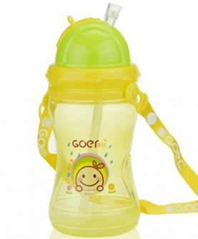 运动吸管水壶黄色
