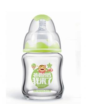 宽口径初生用玻璃奶瓶