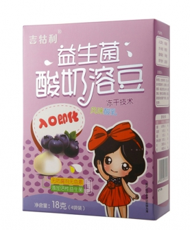 益生菌酸奶溶豆-蓝莓味