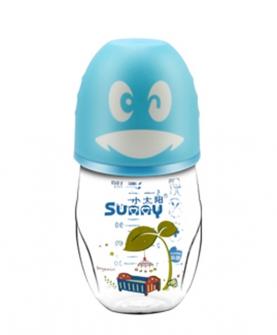 可爱企鹅玻璃奶瓶160ml