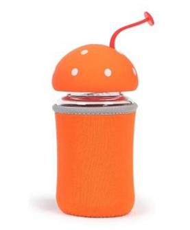 耐热防爆水晶玻璃杯橘黄