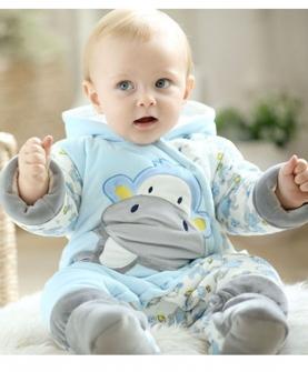 婴童加厚保暖套装