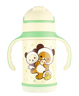 轻松小熊双色包胶训练杯