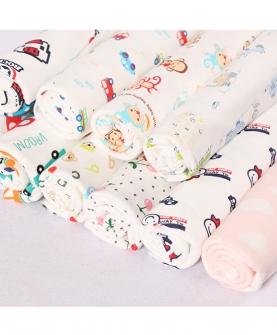 婴童三角巾卡通印花面料