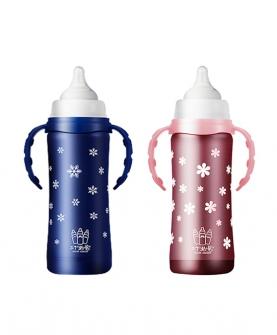 不锈钢宝宝宽口径奶瓶