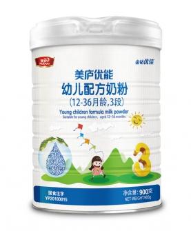 优能配方奶粉3段