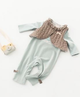 女童洋气时尚背心连体衣套装