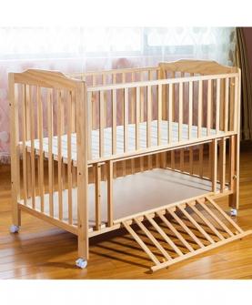欧式实木婴儿床