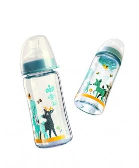 宽口径玻璃奶瓶(240ml)
