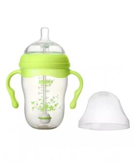 有柄自动广口PPSU奶瓶