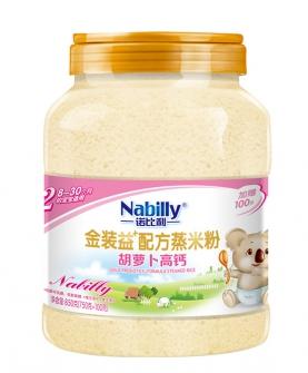 益+配方胡萝卜高钙蒸米粉850克