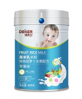 425克蒸米乳米粉核桃胡萝卜水果配方苹果味