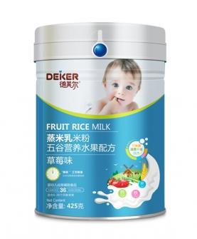 425克蒸米乳米粉五谷营养水果配方草莓味