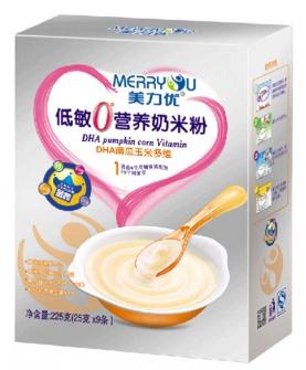 美力优DHA南瓜玉米多维低敏0°营养奶米粉1段