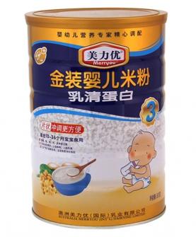 美力优乳清蛋白山金装婴儿米粉3段