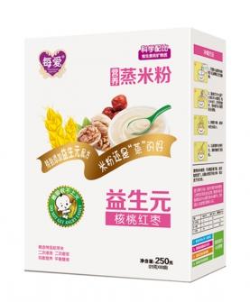 核桃红枣益生元蒸米粉盒装