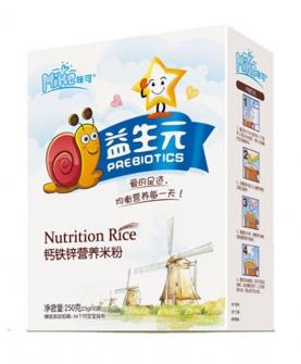 益生元鈣鐵鋅營養米粉盒