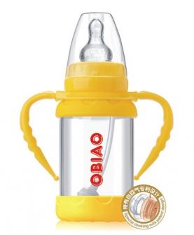 标准口径小精灵防爆玻璃奶瓶140ml