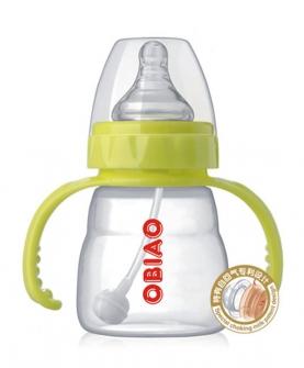 宽口江硅胶奶瓶150ml