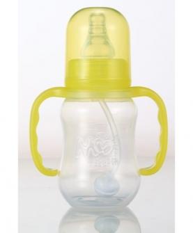 120毫升PP全自动双柄葫芦奶瓶黄色