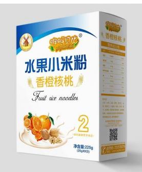 香橙核桃水果小米粉2段