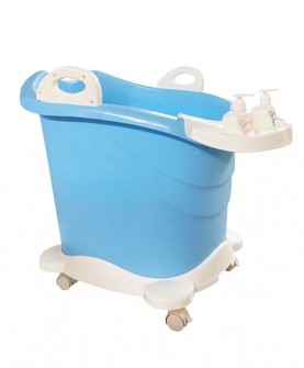 立式滑轮浴桶蓝色