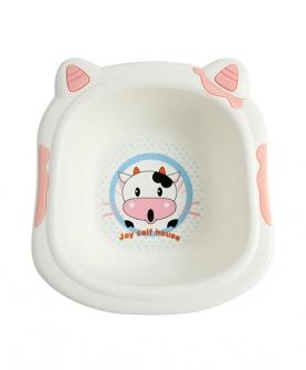 可爱奶牛脸盆粉色(大号)