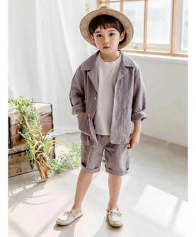 新款男童套装