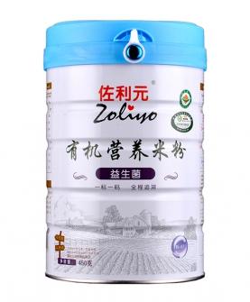 益生菌有机营养米粉450g罐装