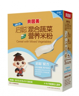 混合蔬菜营养米粉225克盒装