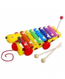 宝宝拖拉手敲琴婴儿木琴