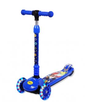 幼儿滑板车三轮电动音乐泡泡车
