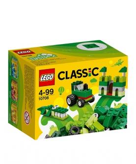积木拼装玩具经典系列绿色创意箱