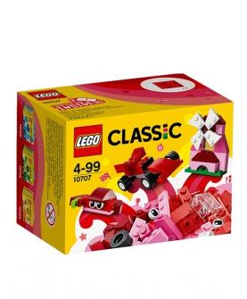 积木拼装玩具经典系列红色创意箱