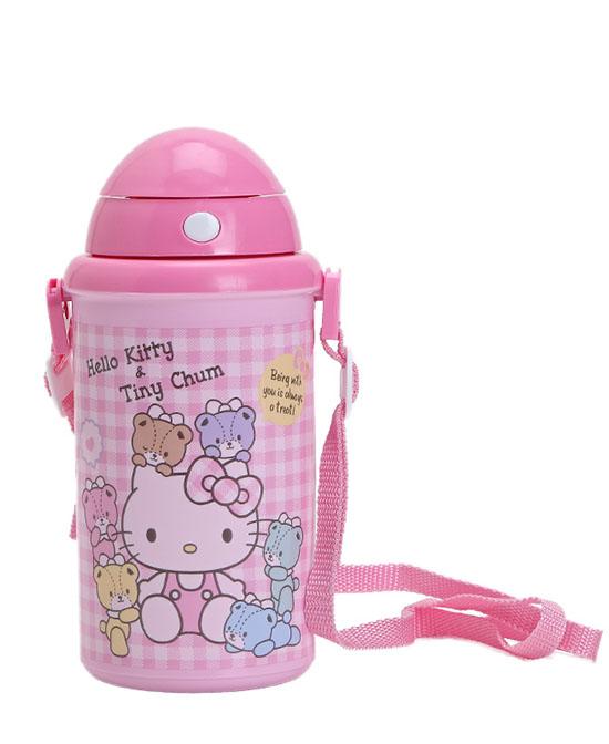 HelloKitty用品儿童便携带不绣钢保温保冷水壶代理,样品编号:73128