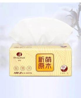 天然原生木浆纸巾
