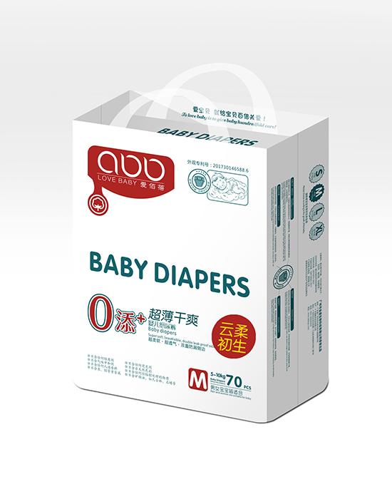 爱佰蓓超薄干爽婴儿纸尿裤M70