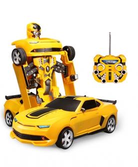 益智早教智能玩具一键变形遥控