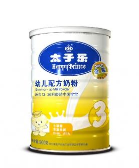 牛磺酸左旋肉碱DHAARA三段奶粉900g