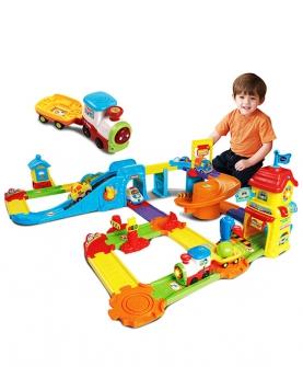 神奇轨道车火车站轨道玩具
