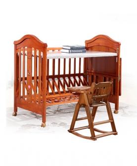 婴儿床实木多功能床